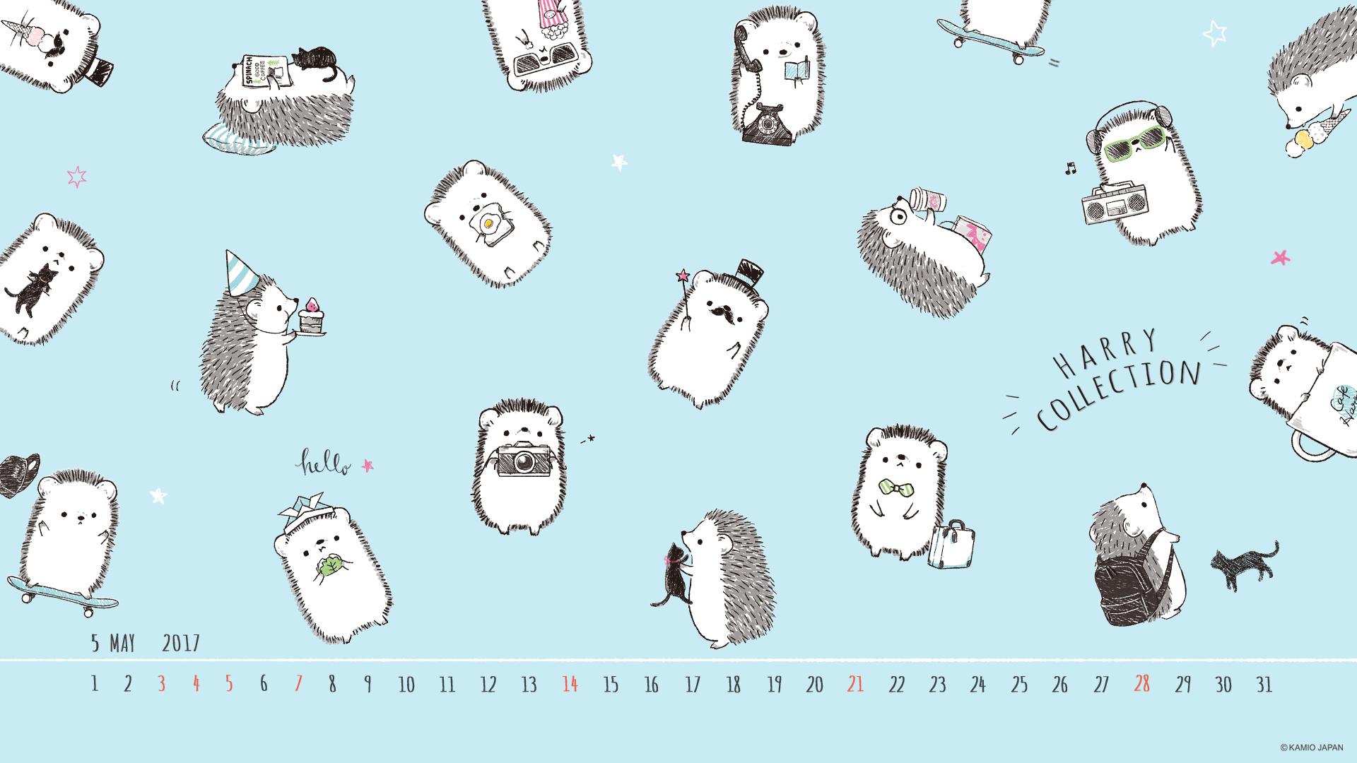 5月カレンダー壁紙プレゼント ニュース 株式会社カミオジャパン ファンシーグッズの企画 デザイン 製造 販売